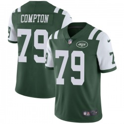 Limited Men's Tom Compton New York Jets Nike Team Color Vapor Untouchable Jersey - Green