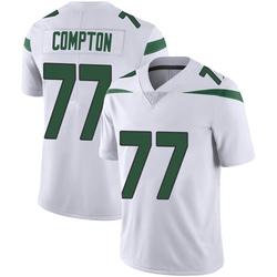 Limited Men's Tom Compton New York Jets Nike Vapor Jersey - Spotlight White