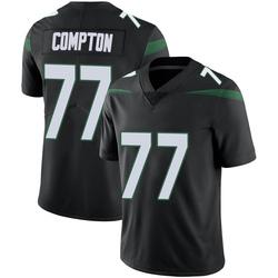 Limited Men's Tom Compton New York Jets Nike Vapor Jersey - Stealth Black