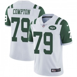 Limited Men's Tom Compton New York Jets Nike Vapor Untouchable Jersey - White