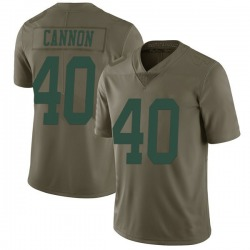 Limited Men's Trenton Cannon New York Jets Nike 2017 Salute to Service Jersey - Green
