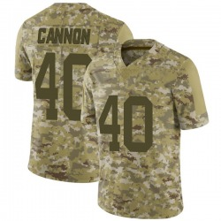 Limited Men's Trenton Cannon New York Jets Nike 2018 Salute to Service Jersey - Camo