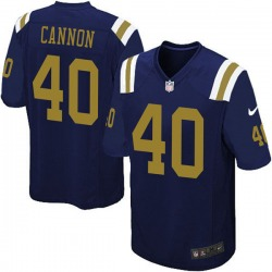 Limited Men's Trenton Cannon New York Jets Nike Alternate Vapor Untouchable Jersey - Navy Blue