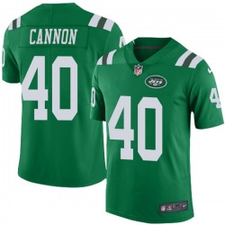 Limited Men's Trenton Cannon New York Jets Nike Color Rush Jersey - Green