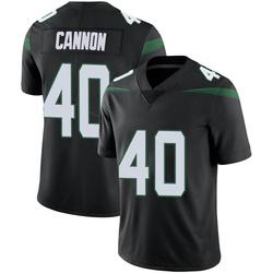Limited Men's Trenton Cannon New York Jets Nike Vapor Jersey - Stealth Black