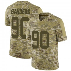 Limited Men's Trevon Sanders New York Jets Nike 2018 Salute to Service Jersey - Camo