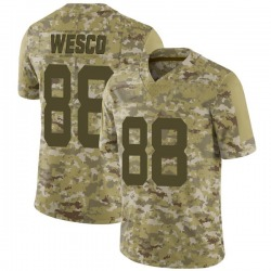 Limited Men's Trevon Wesco New York Jets Nike 2018 Salute to Service Jersey - Camo