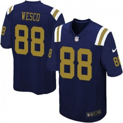 Limited Men's Trevon Wesco New York Jets Nike Alternate Vapor Untouchable Jersey - Navy Blue