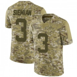 Limited Men's Trevor Siemian New York Jets Nike 2018 Salute to Service Jersey - Camo