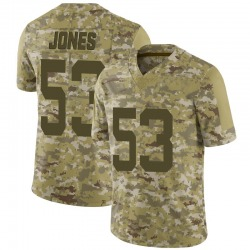 Limited Men's Tyler Jones New York Jets Nike 2018 Salute to Service Jersey - Camo