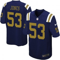 Limited Men's Tyler Jones New York Jets Nike Alternate Vapor Untouchable Jersey - Navy Blue