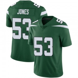 Limited Men's Tyler Jones New York Jets Nike Vapor Jersey - Gotham Green