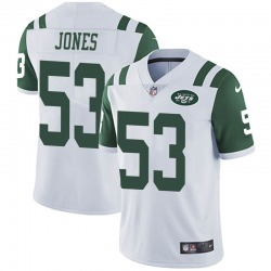 Limited Men's Tyler Jones New York Jets Nike Vapor Untouchable Jersey - White