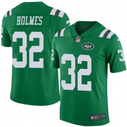 Limited Men's Valentine Holmes New York Jets Nike Color Rush Jersey - Green