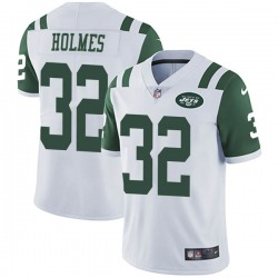 Limited Men's Valentine Holmes New York Jets Nike Vapor Untouchable Jersey - White