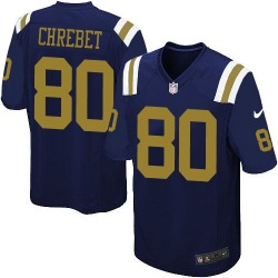 Limited Men's Wayne Chrebet New York Jets Nike Alternate Jersey - Navy Blue