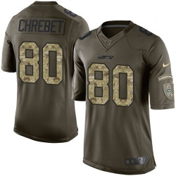 Limited Men's Wayne Chrebet New York Jets Nike Salute to Service Jersey - Green