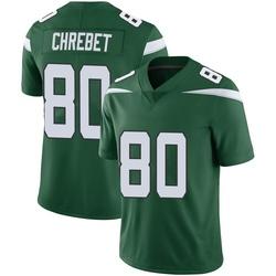 Limited Men's Wayne Chrebet New York Jets Nike Vapor Jersey - Gotham Green