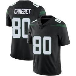 Limited Men's Wayne Chrebet New York Jets Nike Vapor Jersey - Stealth Black