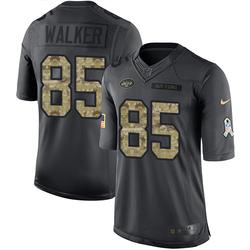 Limited Men's Wesley Walker New York Jets Nike 2016 Salute to Service Jersey - Black