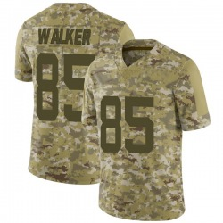 Limited Men's Wesley Walker New York Jets Nike 2018 Salute to Service Jersey - Camo