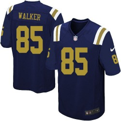Limited Men's Wesley Walker New York Jets Nike Alternate Jersey - Navy Blue