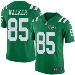Limited Men's Wesley Walker New York Jets Nike Color Rush Jersey - Green