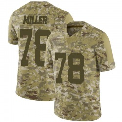 Limited Men's Wyatt Miller New York Jets Nike 2018 Salute to Service Jersey - Camo