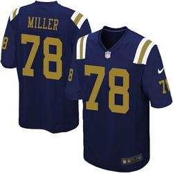 Limited Men's Wyatt Miller New York Jets Nike Alternate Vapor Untouchable Jersey - Navy Blue
