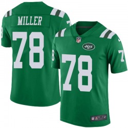 Limited Men's Wyatt Miller New York Jets Nike Color Rush Jersey - Green