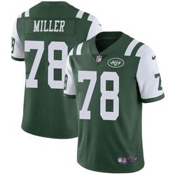 Limited Men's Wyatt Miller New York Jets Nike Team Color Vapor Untouchable Jersey - Green