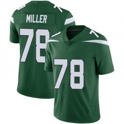 Limited Men's Wyatt Miller New York Jets Nike Vapor Jersey - Gotham Green