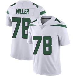 Limited Men's Wyatt Miller New York Jets Nike Vapor Jersey - Spotlight White
