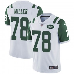 Limited Men's Wyatt Miller New York Jets Nike Vapor Untouchable Jersey - White