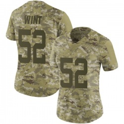 Limited Women's Anthony Wint New York Jets Nike 2018 Salute to Service Jersey - Camo