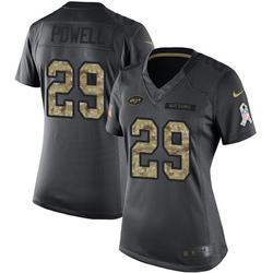 Limited Women's Bilal Powell New York Jets Nike 2016 Salute to Service Jersey - Black