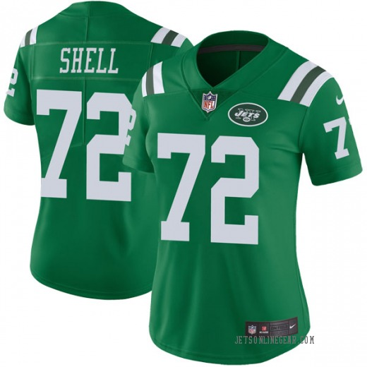 new product 306c4 67d93 Limited Women's Brandon Shell New York Jets Nike Color Rush Jersey - Green