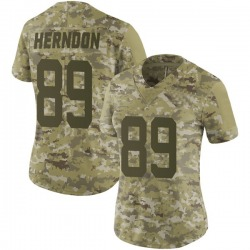 Limited Women's Chris Herndon New York Jets Nike 2018 Salute to Service Jersey - Camo