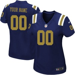 Limited Women's Custom New York Jets Nike ized Alternate Jersey - Navy Blue