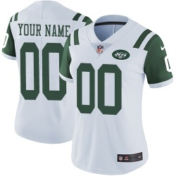 Limited Women's Custom New York Jets Nike ized Jersey - White