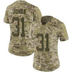 Limited Women's Derrick Jones New York Jets Nike 2018 Salute to Service Jersey - Camo