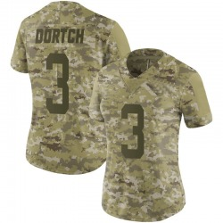 Limited Women's Greg Dortch New York Jets Nike 2018 Salute to Service Jersey - Camo