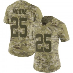Limited Women's Jalin Moore New York Jets Nike 2018 Salute to Service Jersey - Camo