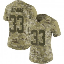 Limited Women's Jamal Adams New York Jets Nike 2018 Salute to Service Jersey - Camo
