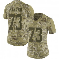 Limited Women's Joe Klecko New York Jets Nike 2018 Salute to Service Jersey - Camo