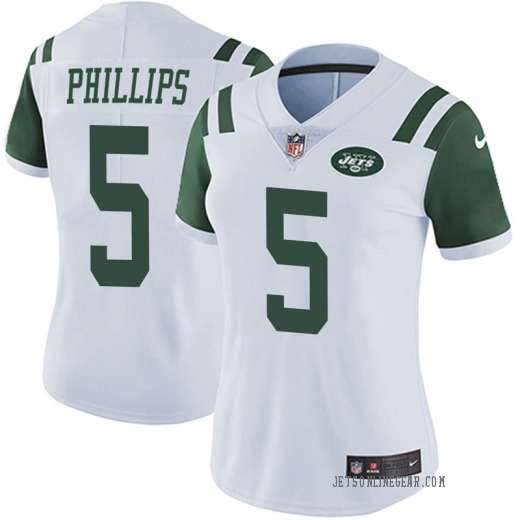 Limited Women's Kyle Phillips New York Jets Nike Vapor Untouchable Jersey - White