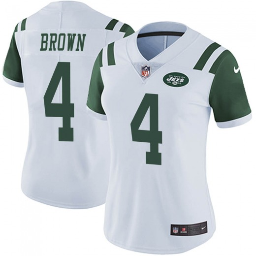 Limited Women's Kyron Brown New York Jets Nike Vapor Untouchable Jersey - White