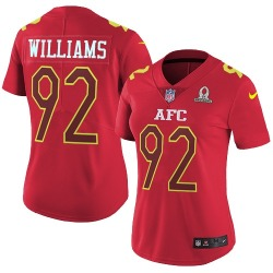 Limited Women's Leonard Williams New York Jets Nike 2017 Pro Bowl Jersey - Red