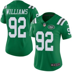 Limited Women's Leonard Williams New York Jets Nike Color Rush Jersey - Green