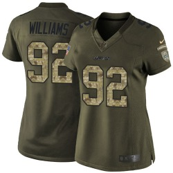 Limited Women's Leonard Williams New York Jets Nike Salute to Service Jersey - Green